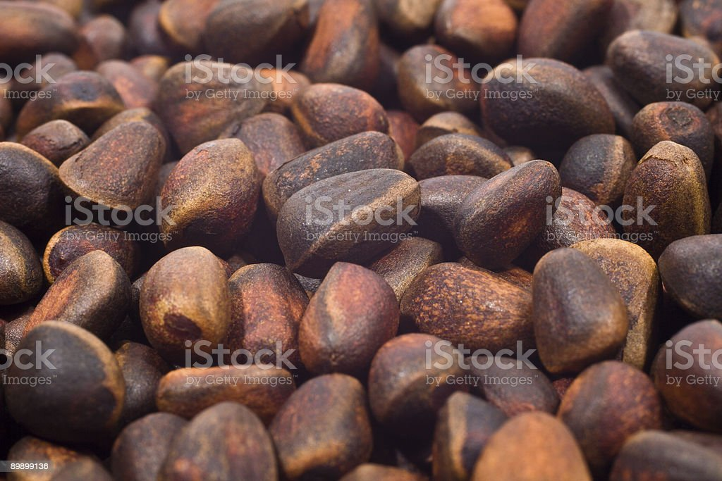 Close-up a pile of cedar nut royalty-free stock photo