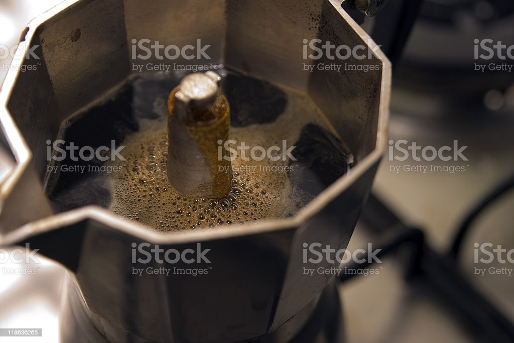 CloseUp About a  Moka Coffee royalty-free stock photo