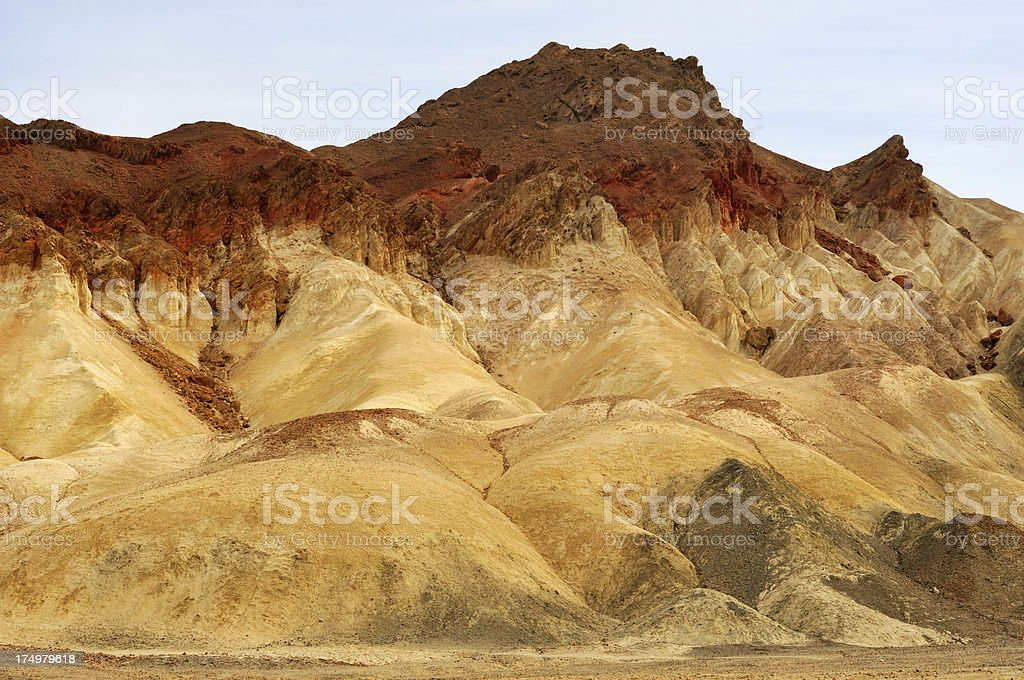 Close-up abstract landscape of Death Valley, California, USA royalty-free stock photo
