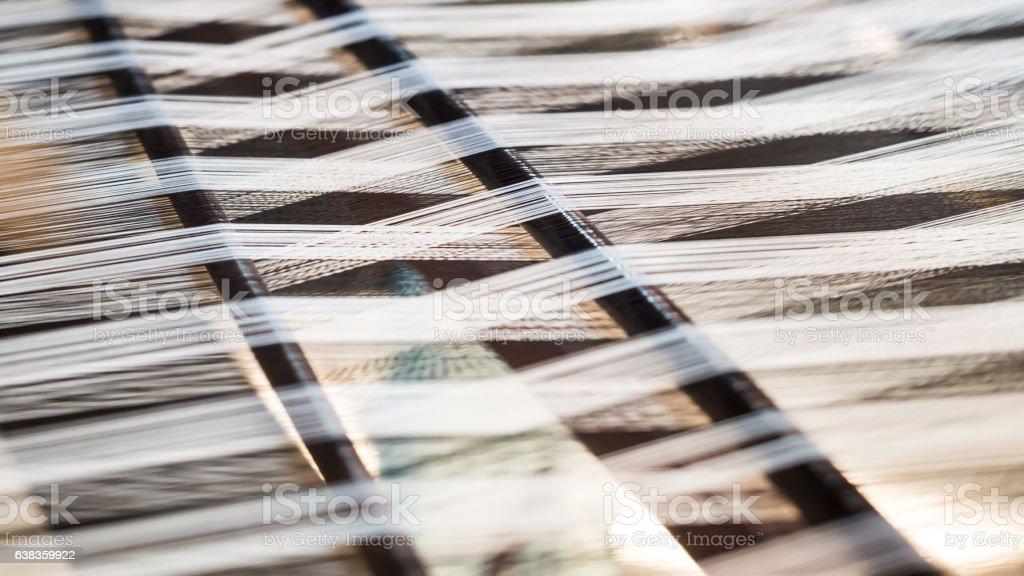 Closeup, abstract weave silk pattern stock photo