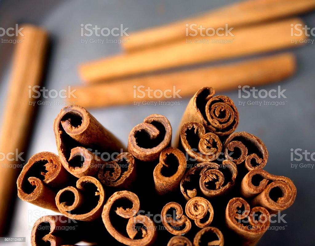 Close-up af Cinnamon stock photo