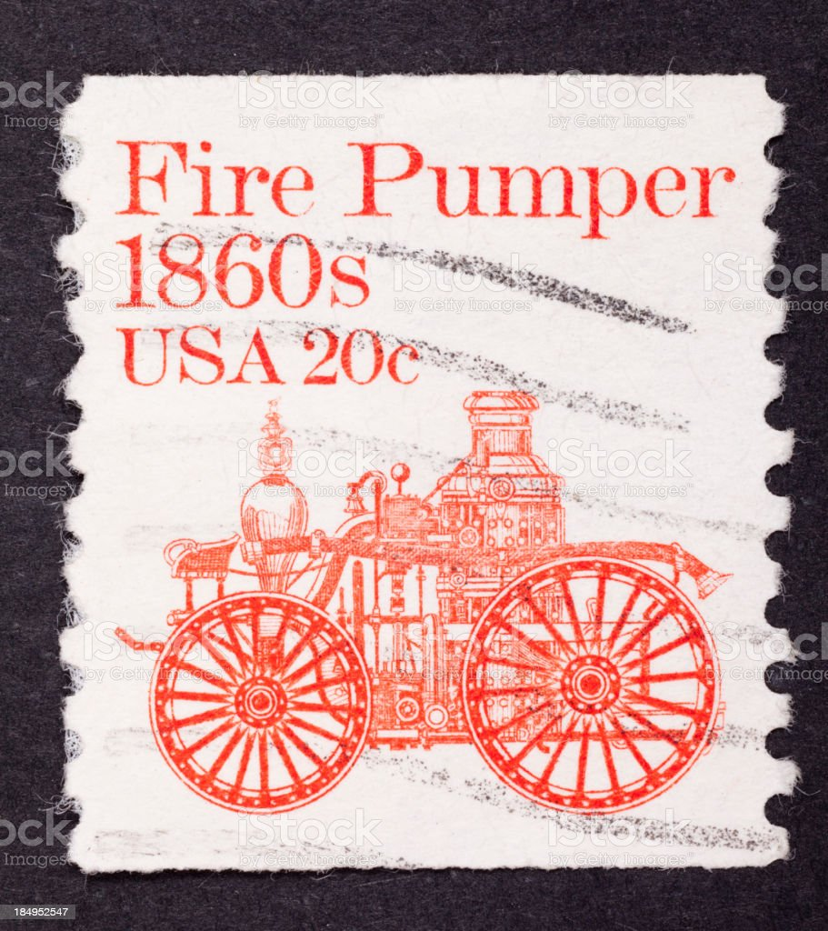 close-up American postage stamp stock photo