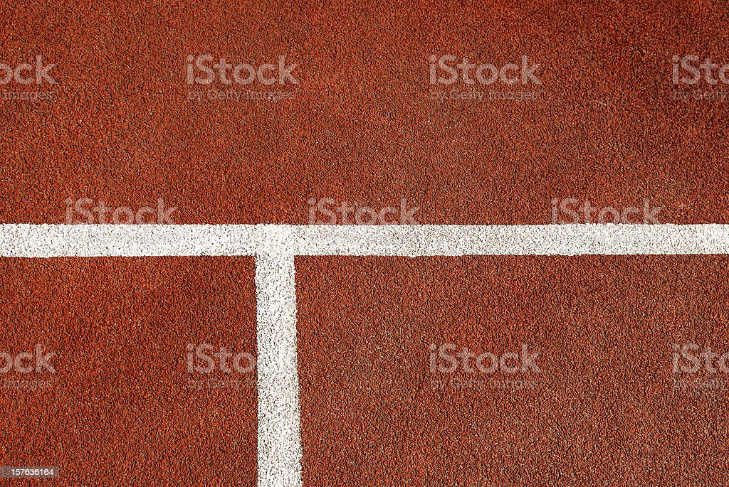 Closeup arrangement of tennis court floor stock photo