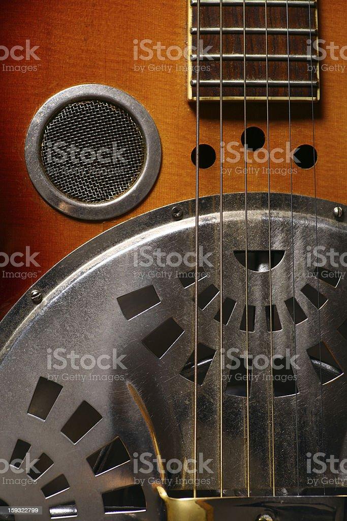 Close-up at dobro guitar center stock photo