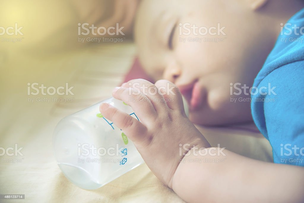 closeup  Baby hand and finger stock photo