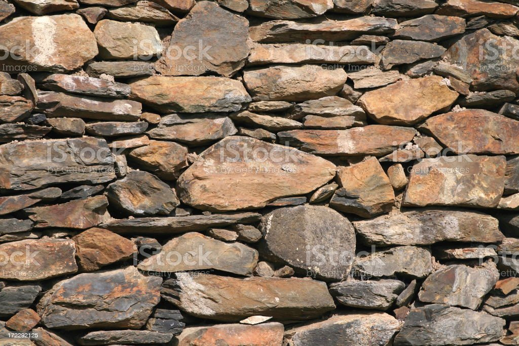A close-up background of a stone wall royalty-free stock photo