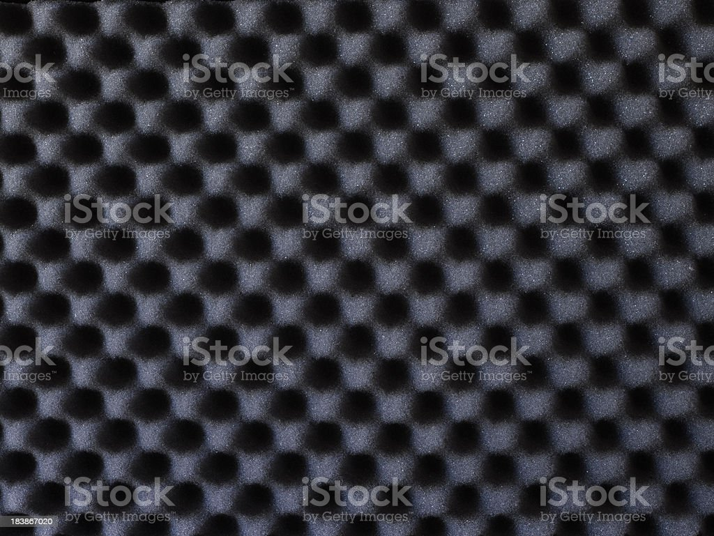 Closeup background of acoustic foam wall stock photo