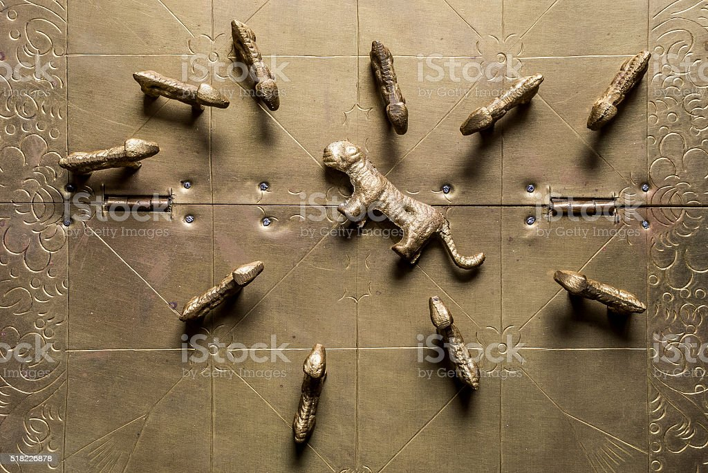 Close-up bagh-chal board stock photo