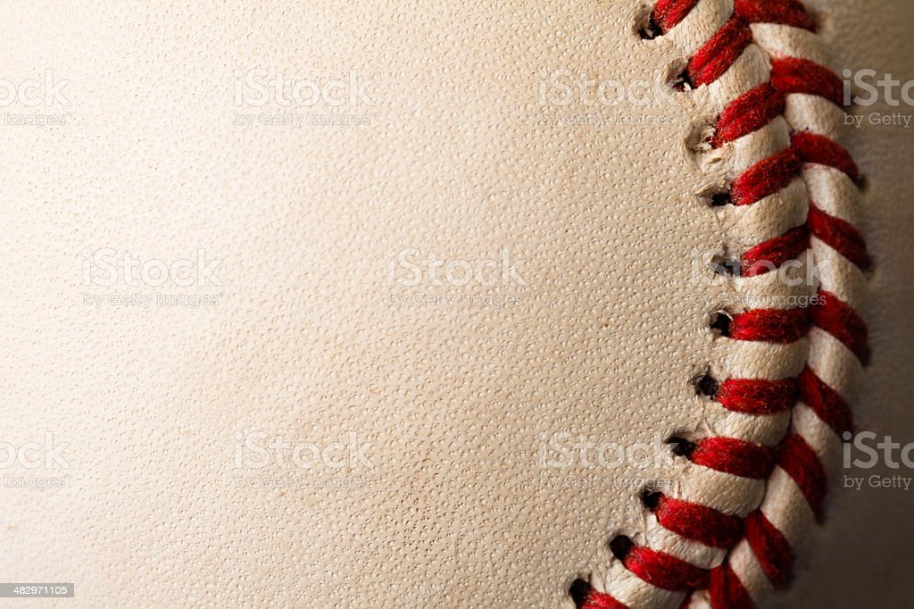 Closeup Baseball stock photo