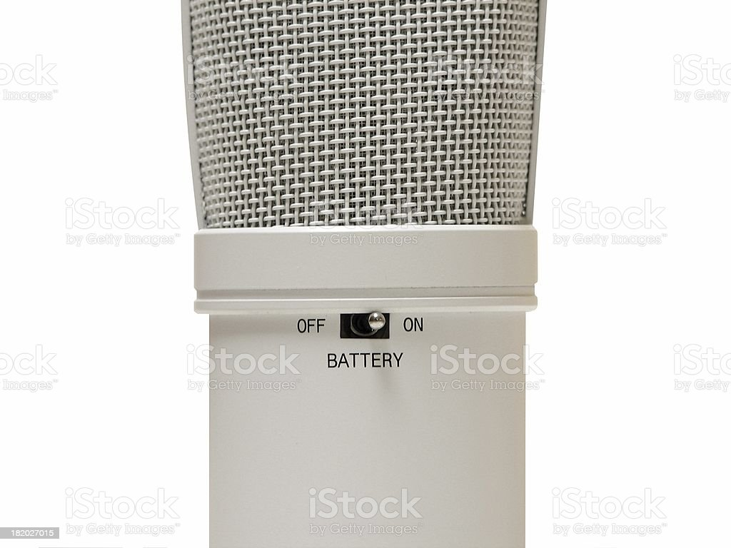 Closeup: Battery-Powered Condenser Mic royalty-free stock photo