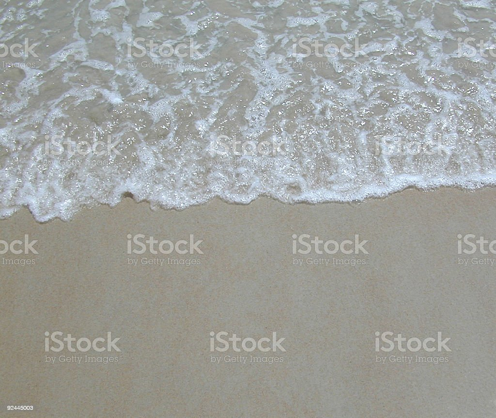 Close-up Beach Water royalty-free stock photo
