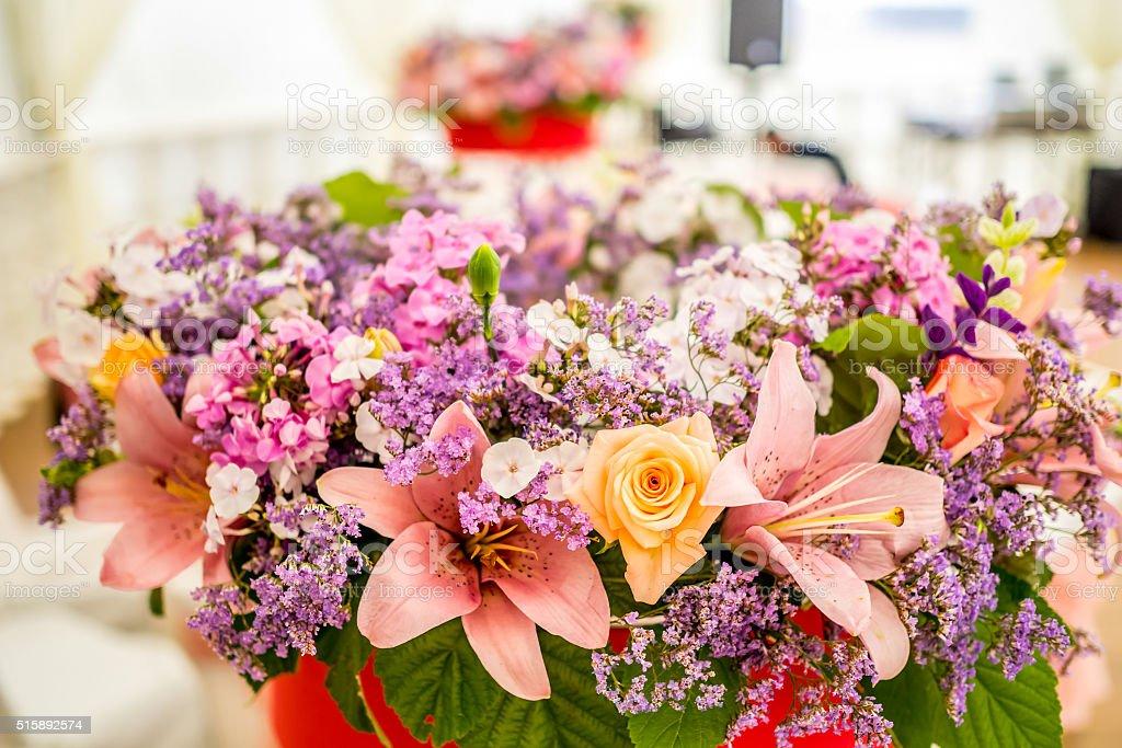 Close-up beautiful flower bouqet stock photo