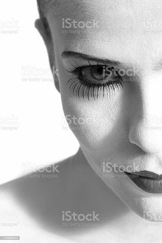 Primer plano de cara de mujer bella - foto de stock