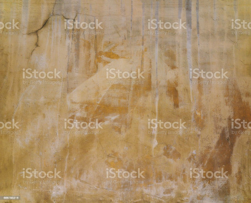 Close-up beige grunge old wall texture, concrete cement background stock photo