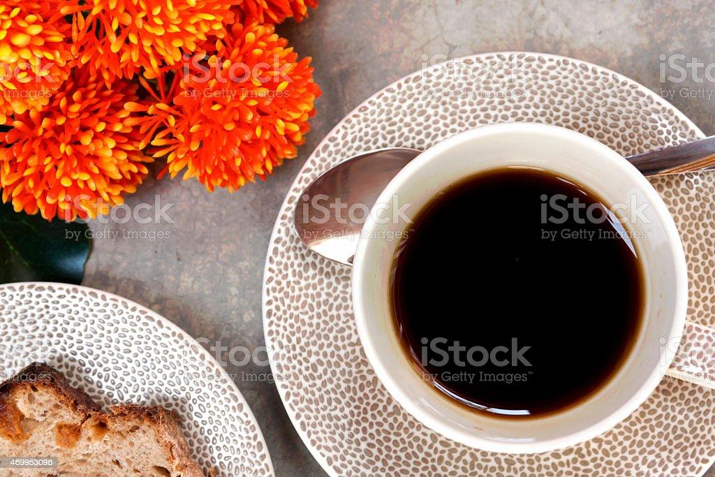 Closeup black coffee background royalty-free stock photo