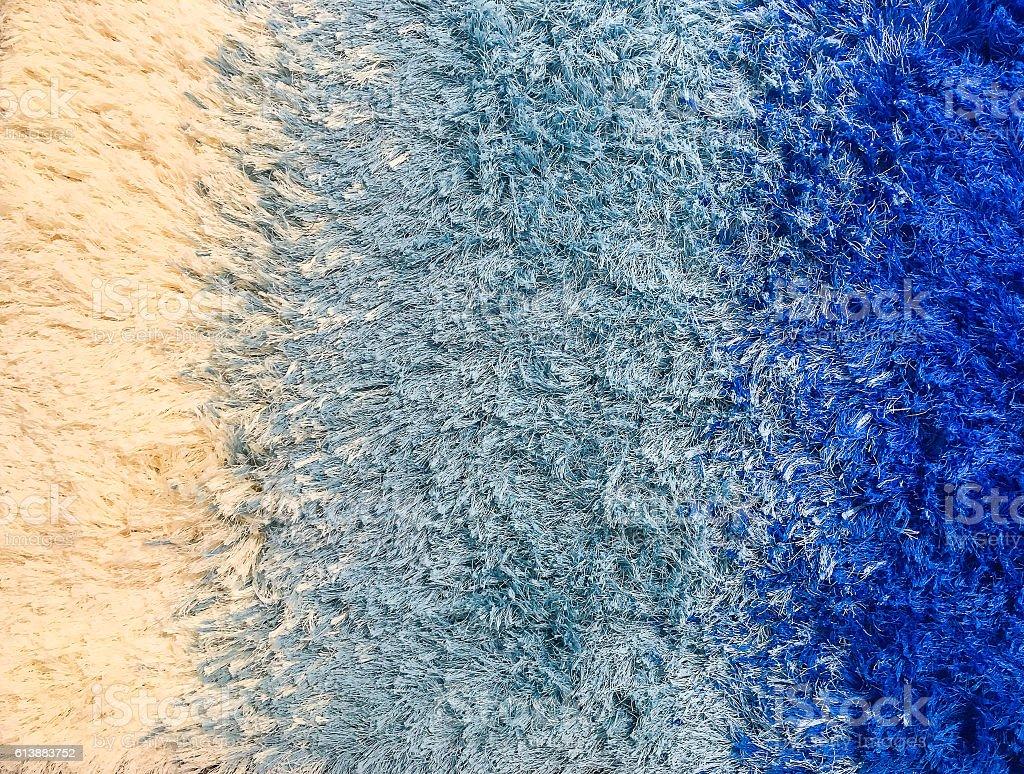 Closeup blue fabric carpet textured background stock photo