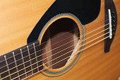 Closeup Body Acoustic Guitar
