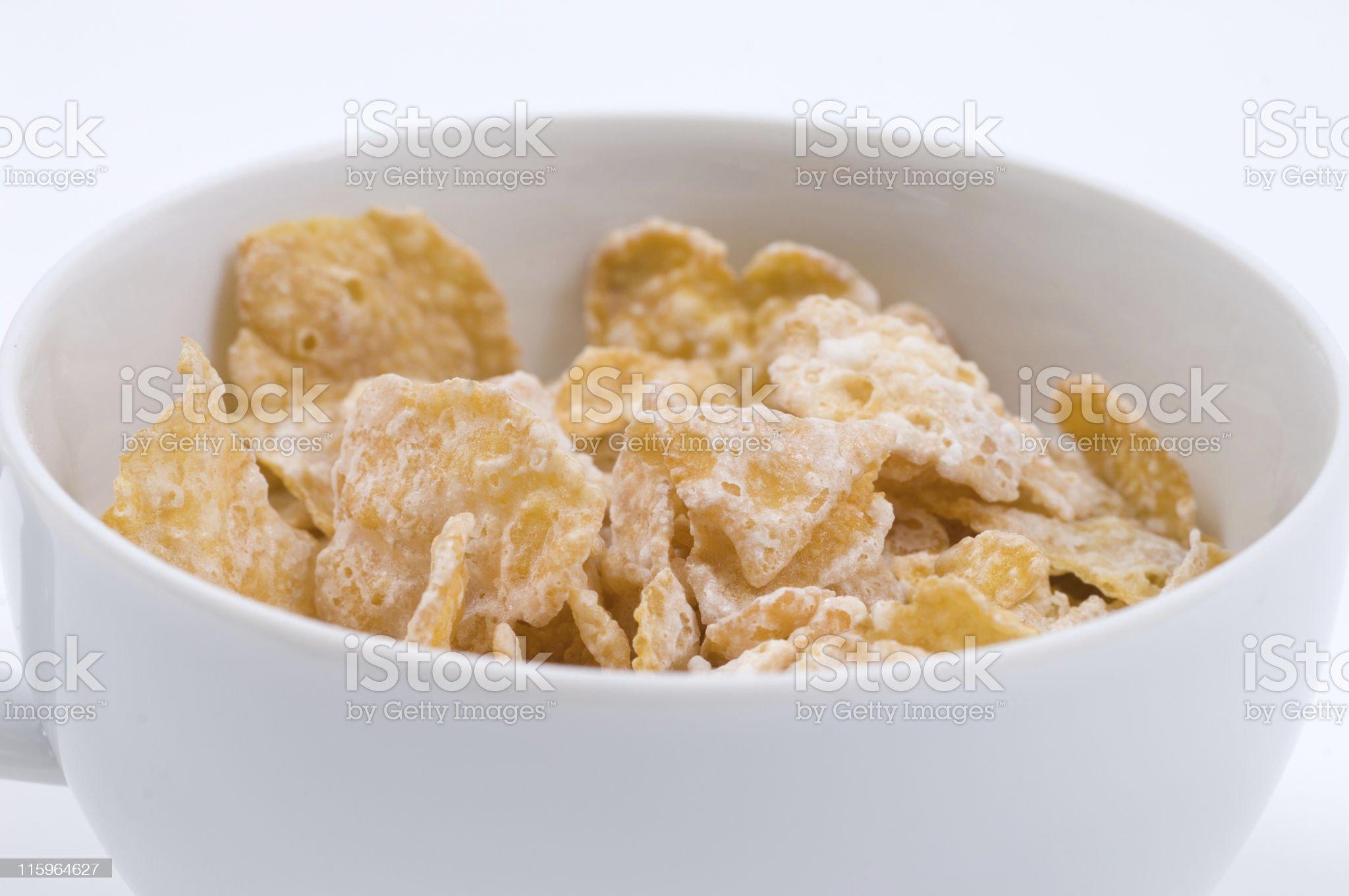 closeup bowl of corn flakes royalty-free stock photo