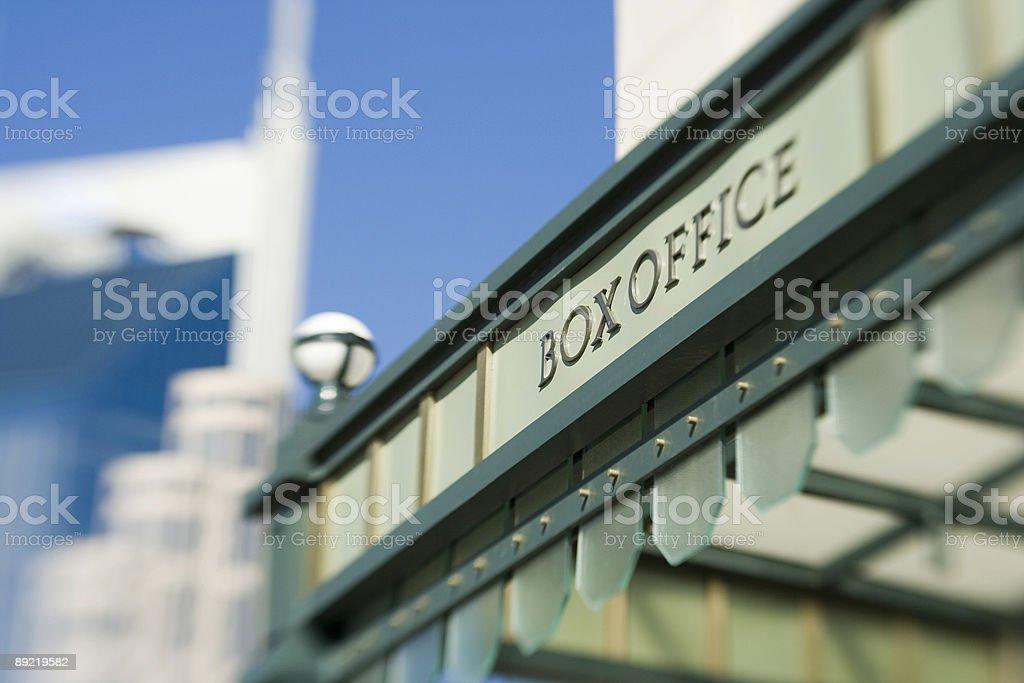 Close-up box office, Schermerhorn Symphony Hall in Nashville stock photo