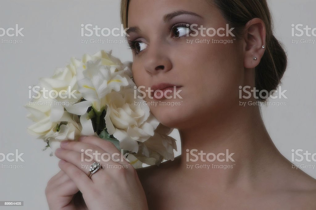 Closeup Bride (2840) stock photo