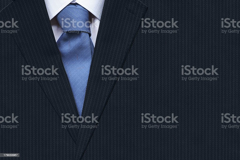 Closeup businessman suit with tie royalty-free stock photo