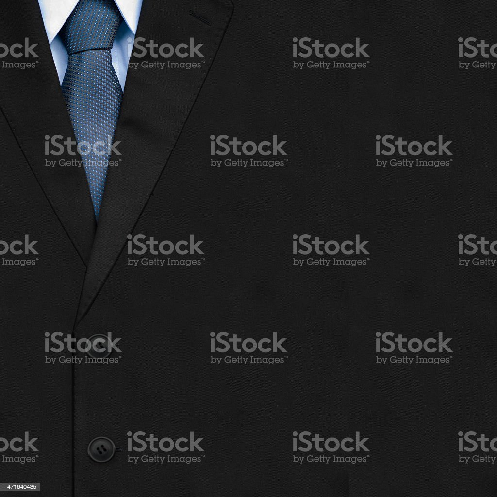 Closeup businessman suit with tie stock photo