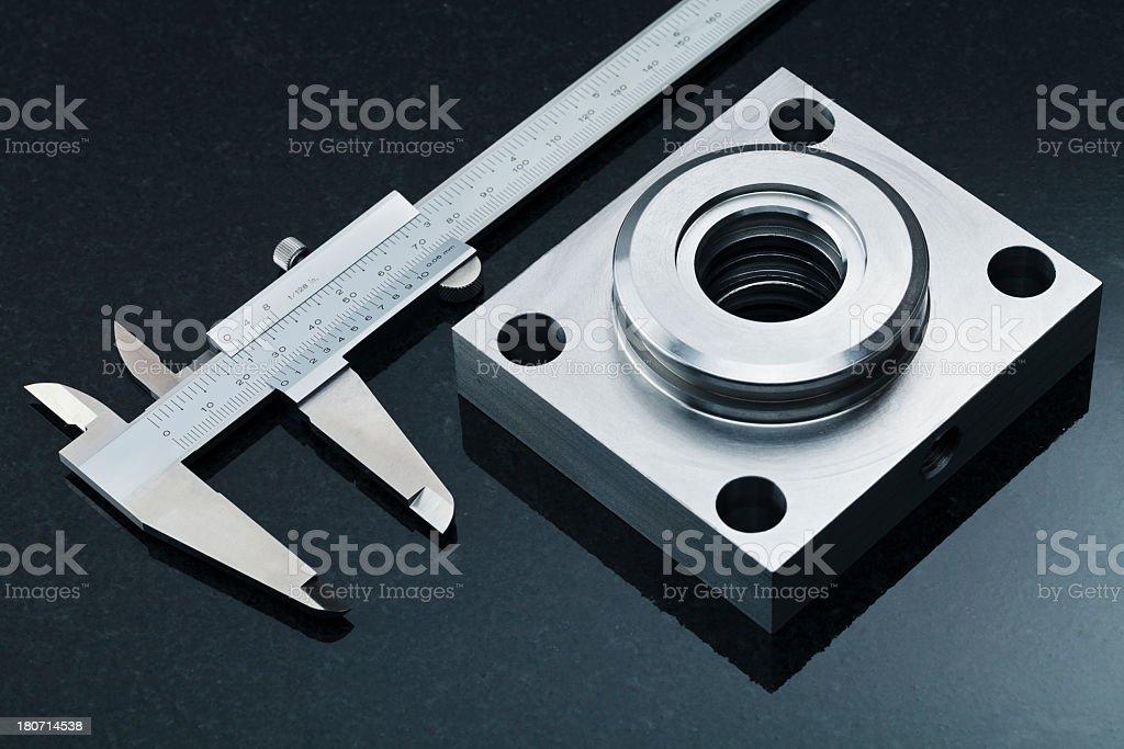 Close-up caliper. royalty-free stock photo