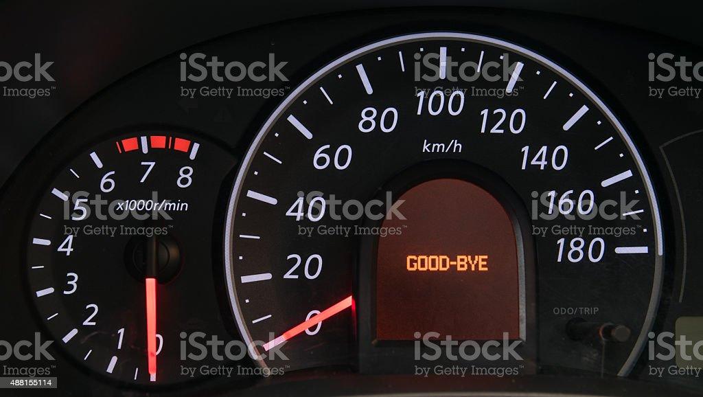 closeup car dashboard stock photo