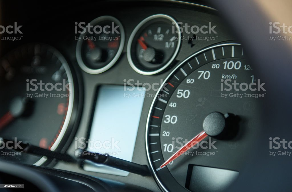 closeup car dashboard stock photo