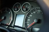 closeup car dashboard