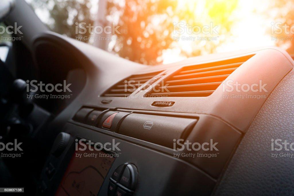 Close-up car dashboard stock photo