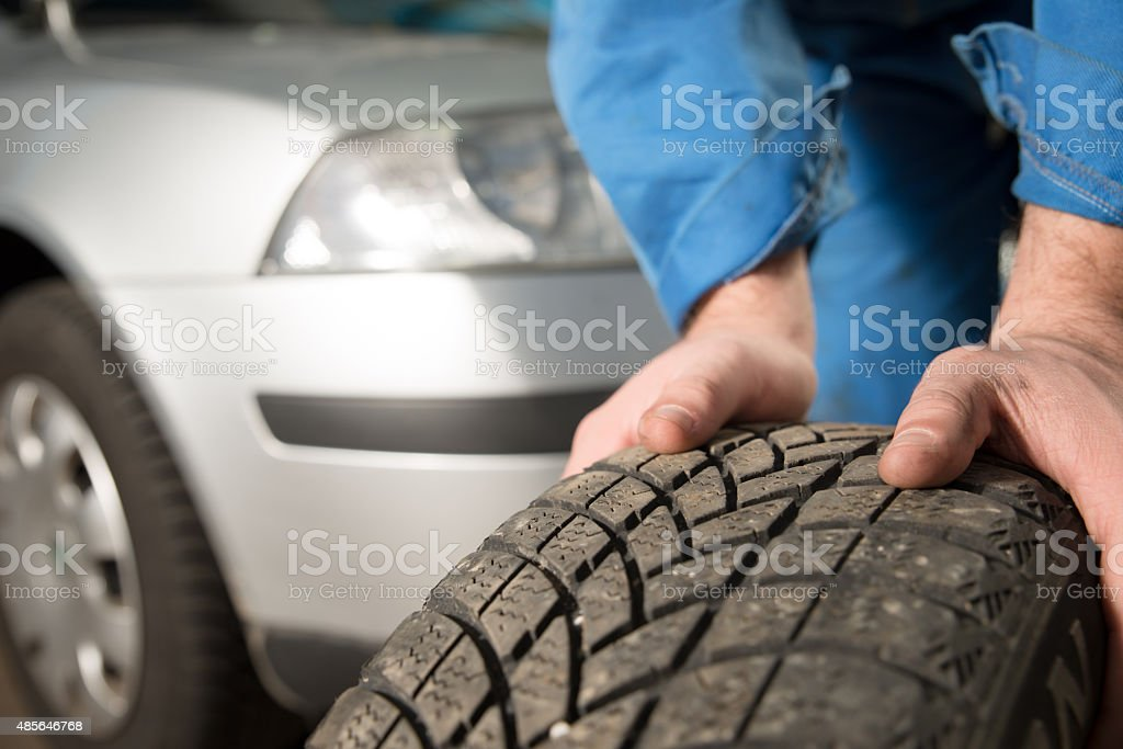 Closeup car tire stock photo