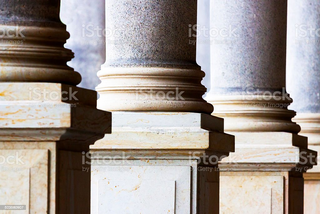 Closeup classical Columns stock photo