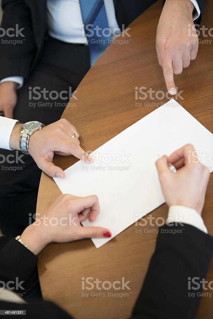 close-up conference table royalty-free stock photo