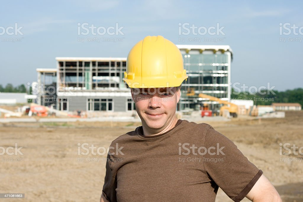 Close-up Construction Worker at Site royalty-free stock photo
