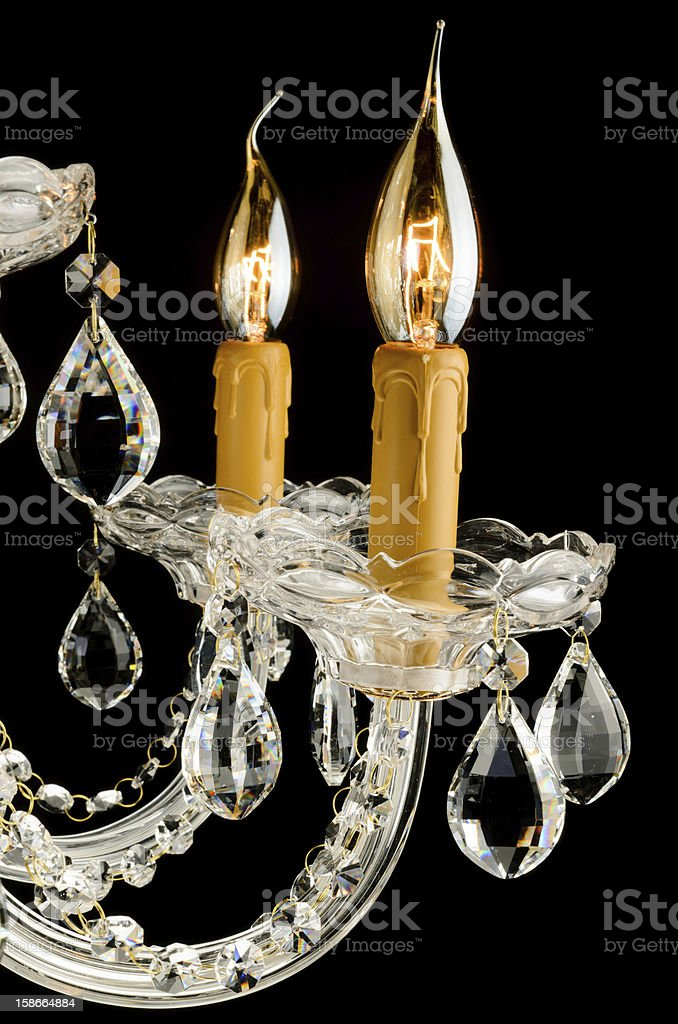 Closeup Contemporary glass chandelier royalty-free stock photo