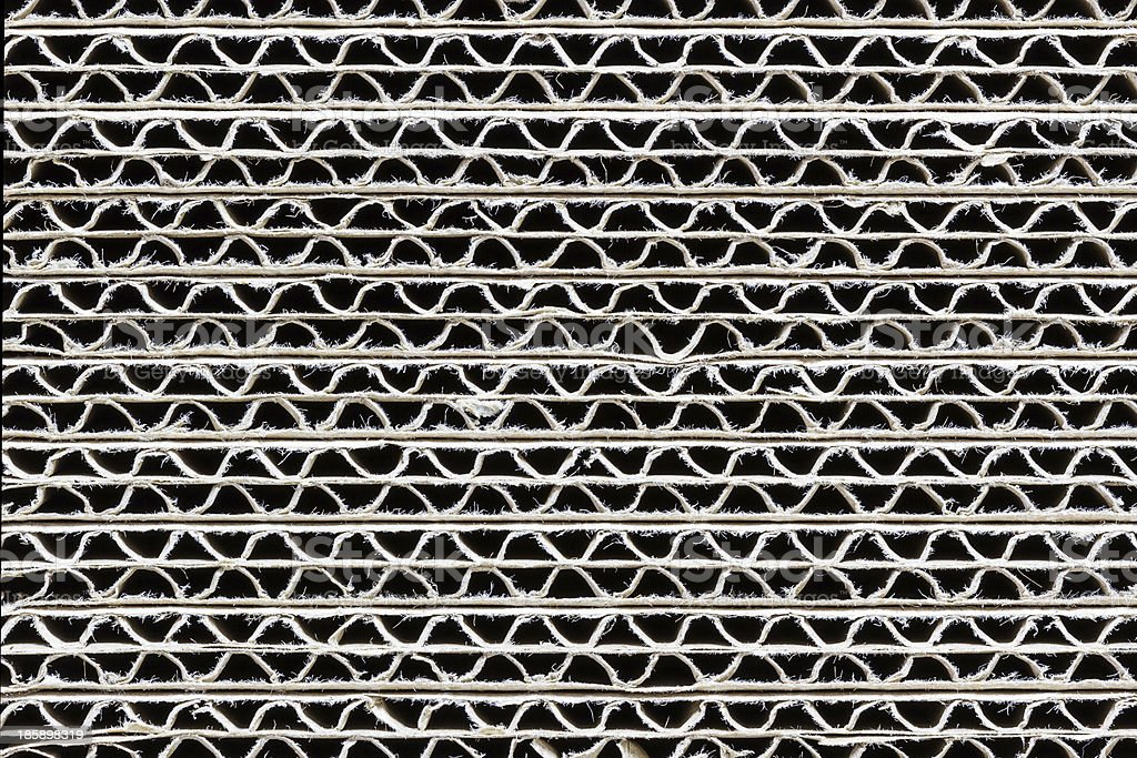 Close-up corrugated box royalty-free stock photo