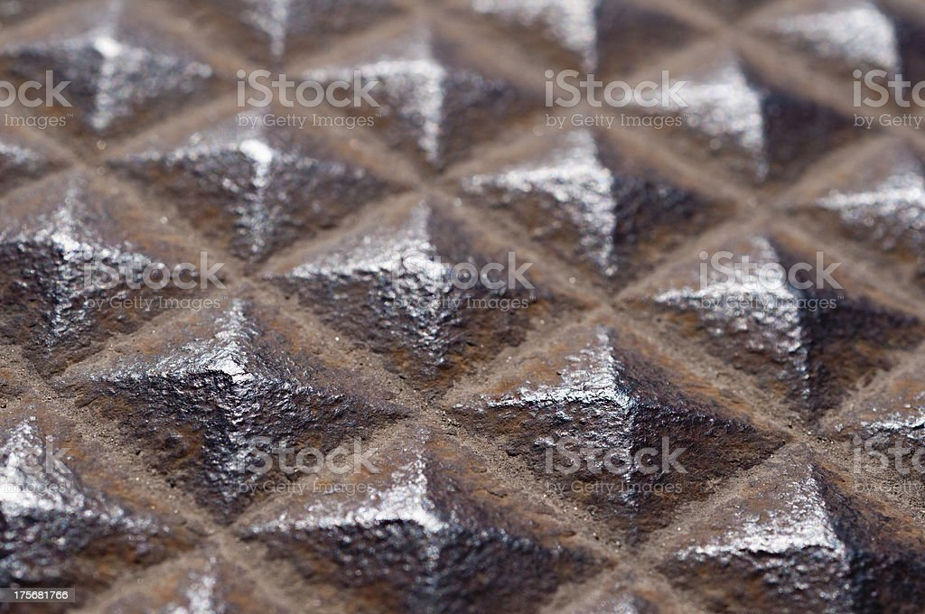 Close-up, cover made of cast iron royalty-free stock photo