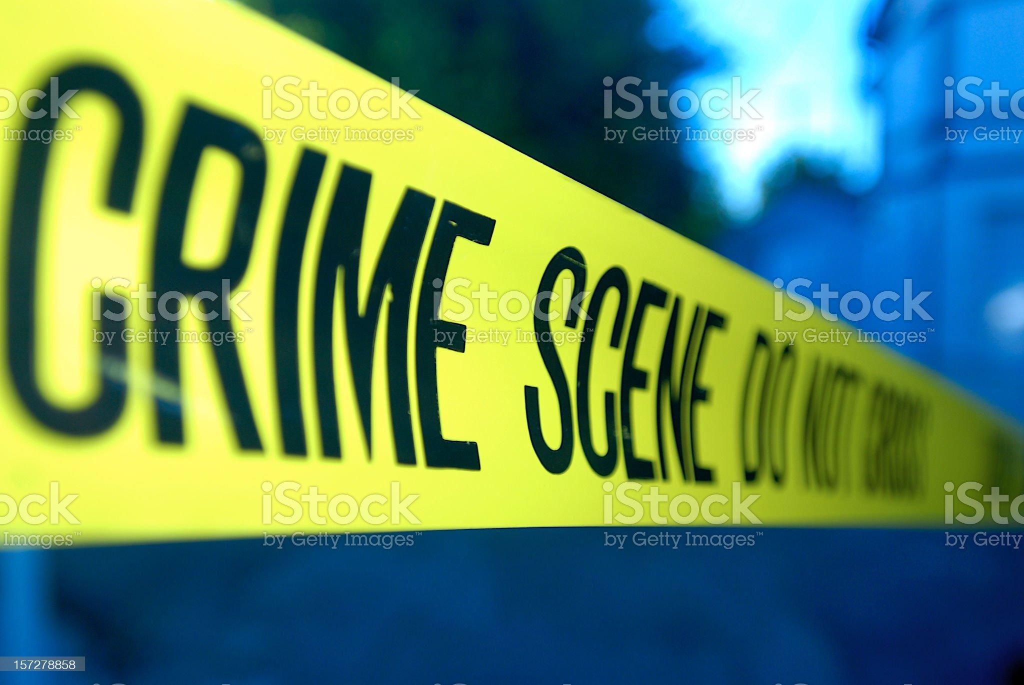 Close-up Crime Scene royalty-free stock photo
