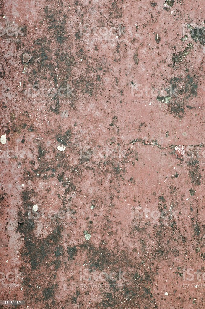 Closeup damage red cement wall for background royalty-free stock photo
