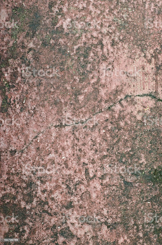 Closeup damage red cement wall royalty-free stock photo