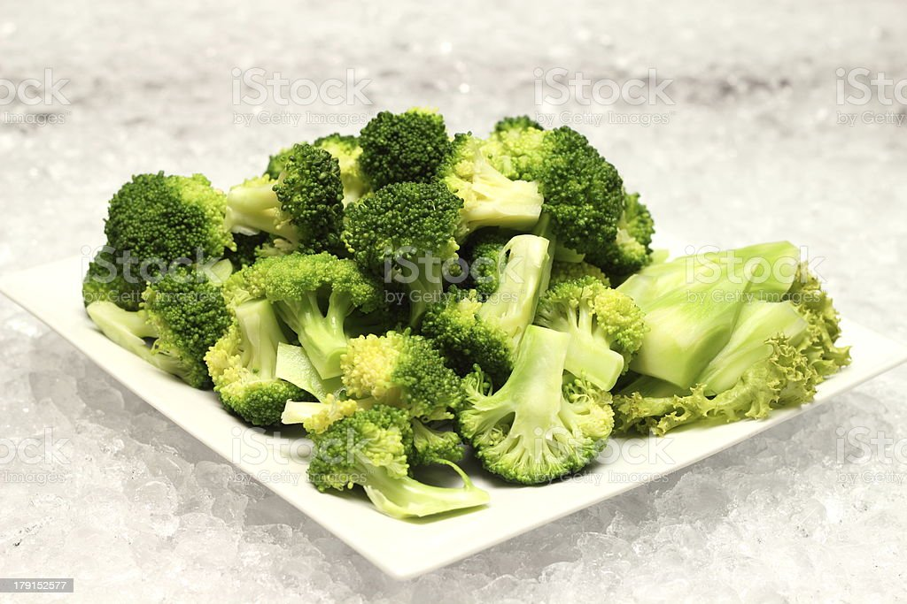 closeup detail of boiled broccoli royalty-free stock photo