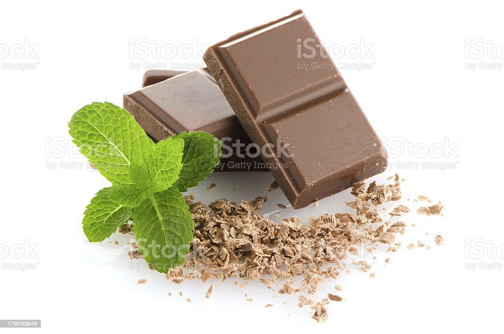 Closeup detail of chocolate parts royalty-free stock photo