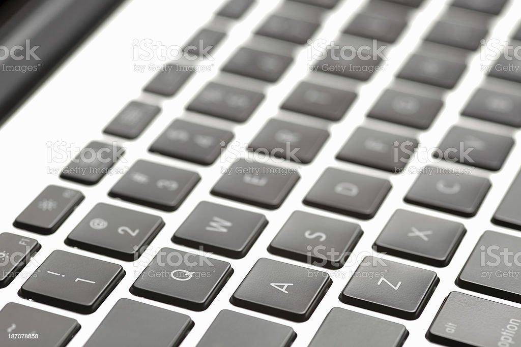 Close-Up Detail Of Laptop Keyboard royalty-free stock photo