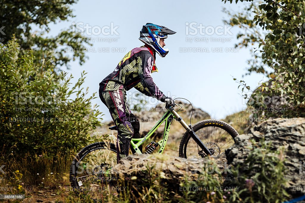 closeup extreme athlete racer bike royalty-free 스톡 사진