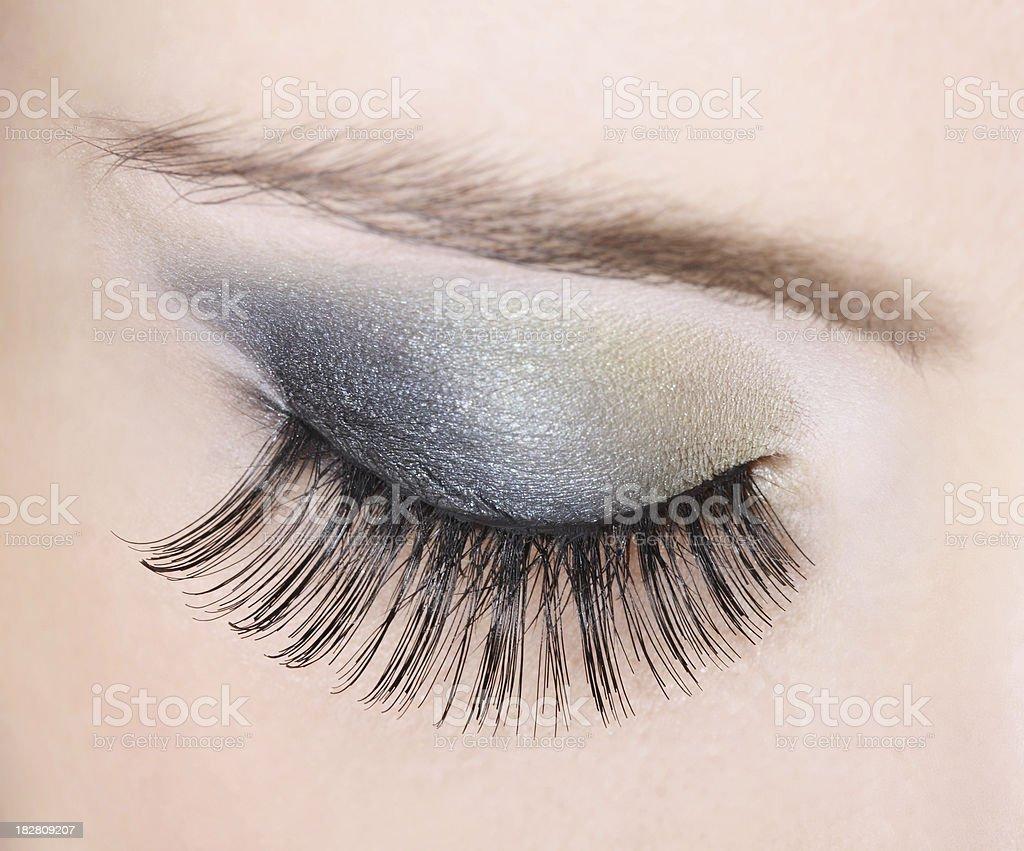 closeup eye royalty-free stock photo