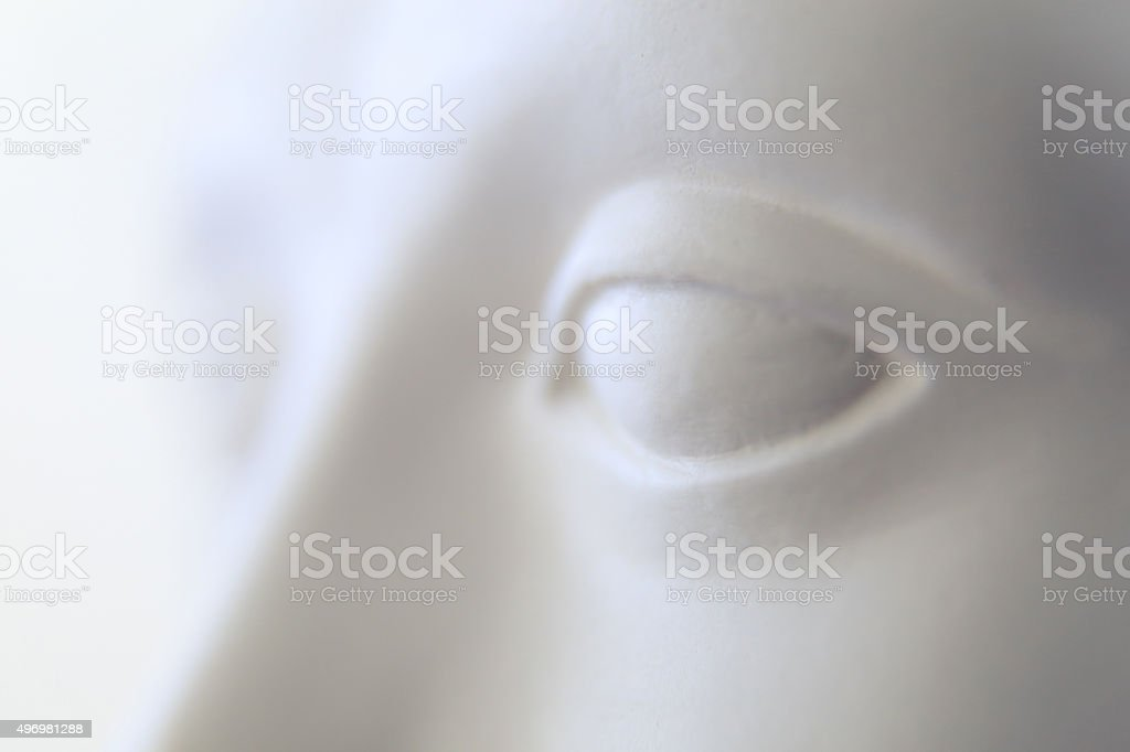 close-up,  face,sight,mannequin stock photo
