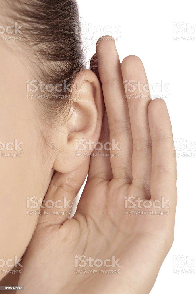 close-up female ear royalty-free stock photo