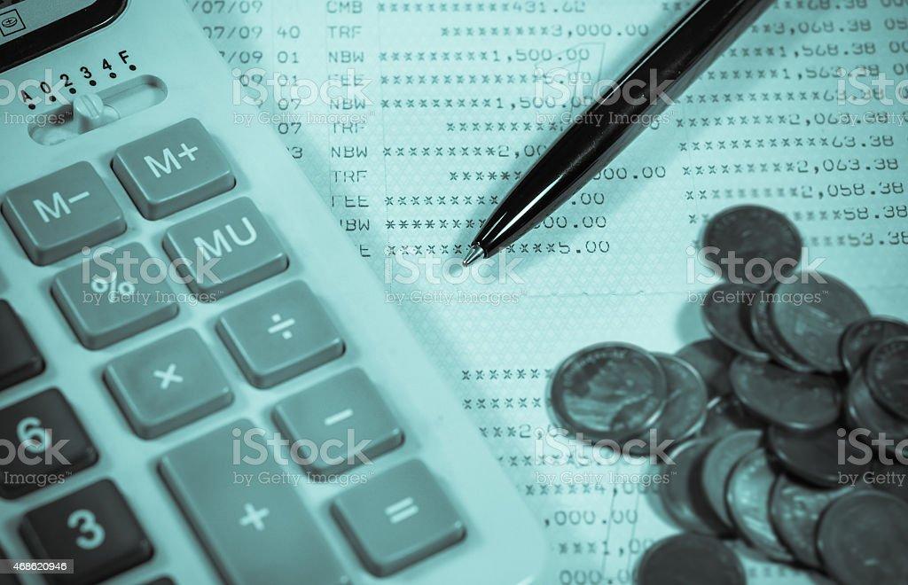 Close-up finance analyzing. stock photo