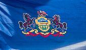 Closeup, Flag of Pennsylvania